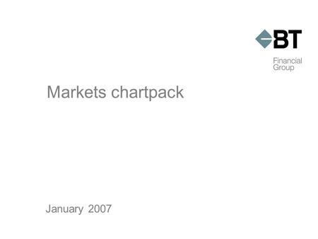 Markets chartpack January 2007. 2006 markets in review  Australian shares produced double digit returns for the fourth consecutive year  $A appreciated.