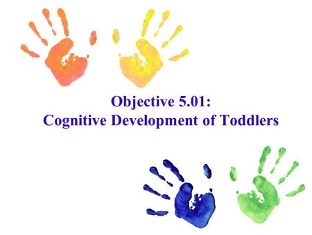 Objective 5.01: Cognitive Development of Toddlers.