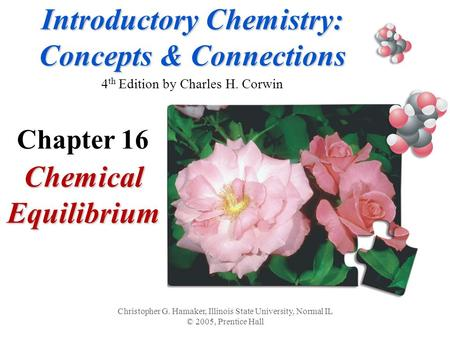 Introductory Chemistry: Concepts & Connections Introductory Chemistry: Concepts & Connections 4 th Edition by Charles H. Corwin Chemical Equilibrium Christopher.