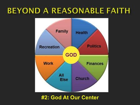 #2: God At Our Center.  Can science accept God? Many scientists do – but they are often ostracized by their fellow scientists.  Where does all.