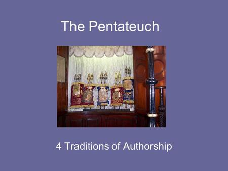 The Pentateuch 4 Traditions of Authorship. Genesis 1-11 Genesis was initially passed on through oral tradition. These stories were told from generation.
