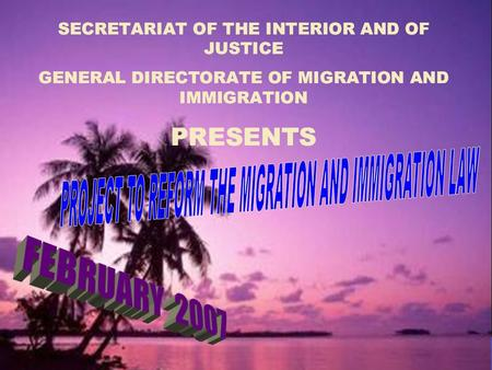 HONDURAS AND ITS HISTORICAL INSTITUTIONALITY IN MIGRATION MATTERS.