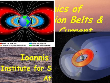 Dynamics of the Radiation Belts & the Ring Current Ioannis A. Daglis Institute for Space Applications Athens.