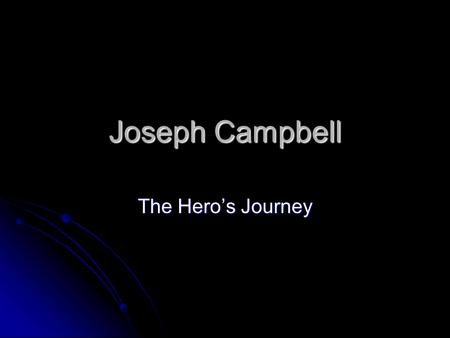 Joseph Campbell The Hero's Journey. General Beliefs Student of Freud and Jung Student of Freud and Jung Archetypes Archetypes Collective Unconscious Collective.