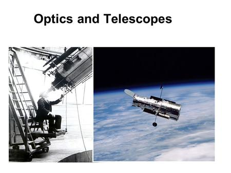 Optics and Telescopes Chapter Six. Introducing Astronomy (chap. 1-6) Introduction To Modern Astronomy I Ch1: Astronomy and the Universe Ch2: Knowing the.