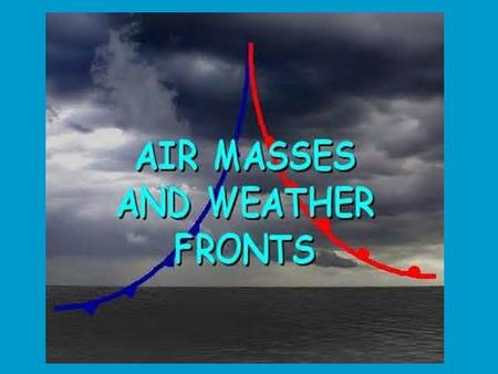  Weather depends on what type of air mass is over an area and whether or not the spot is under a front.  The air masses and how they interact will determine.