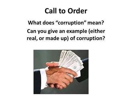 Definition of corruption