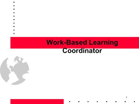 1 Work-Based Learning Coordinator. 2 Coordinator's Preparation Teacher/Counselor Salesperson Career Smart Real-life work experience Business trends Analyst.