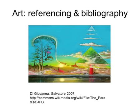 Art: referencing & bibliography Di Giovanna, Salvatore 2007,  dise.JPG.