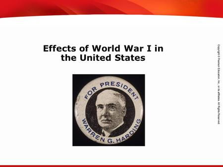 TEKS 8C: Calculate percent composition and empirical and molecular formulas. Effects of World War I in the United States.