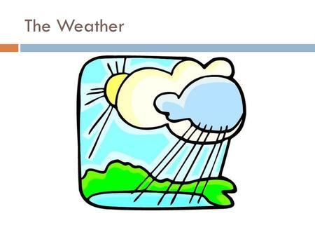 The Weather. Introduction  Vygotsky's theories  Build their own learning process.  Improve their oral and writing skills through their work.  Be able.