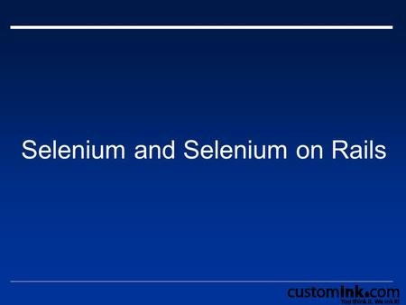 Selenium and Selenium on Rails. Agenda  Overview of Selenium Simple Selenium Tests Selenium IDE  Overview of Selenium on Rails  Problems with Selenium.
