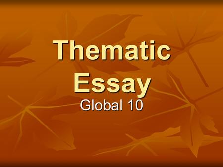 august 2007 global regents thematic essay