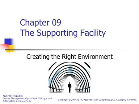 Chapter 09 The Supporting Facility