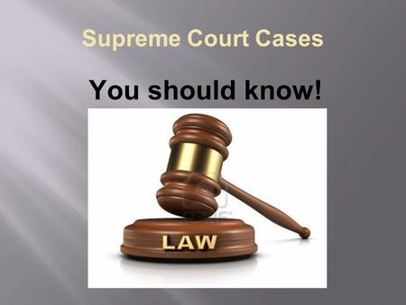Supreme Court Cases You should know!. MAPP V. OHIO (1963)