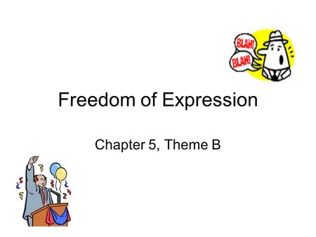 Freedom of Expression Chapter 5, Theme B. Why is the 14 th Amendment important to the Freedom of Expression? Starting in 1925 (Gitlow v. NY), the SCOTUS.