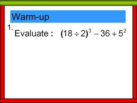 Warm-up 1.. NOTES - Polygons Polygons are classified by the number of sides it has: Pentagon – 5 Hexagon – 6 Heptagon – 7 Octagon – 8 Nonagon – 9 Decagon.