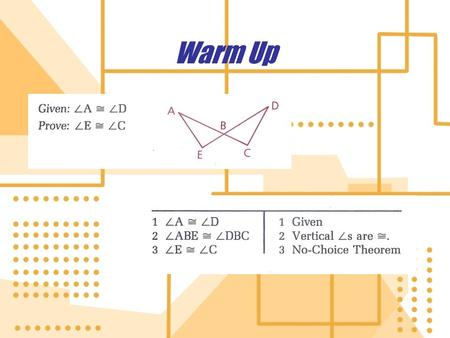 Warm Up 7.3 Formulas involving Polygons Use important formulas that apply to polygons.