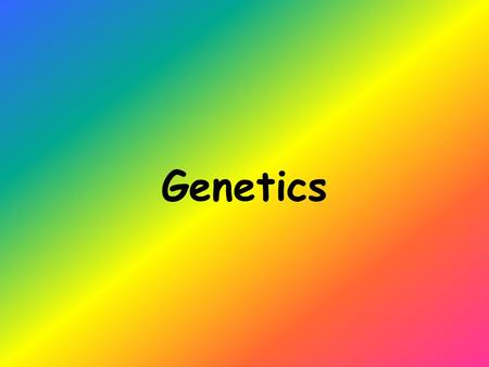 "Genetics. Heredity Passing of genetic traits from parent to offspring Gregor Mendel discovered the principles of heredity while studying pea plants (""Father."