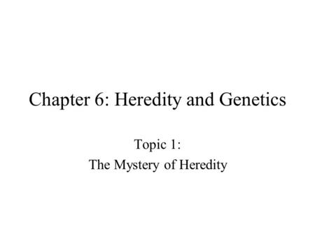 Section 184 Heredity Objectives Ppt Download