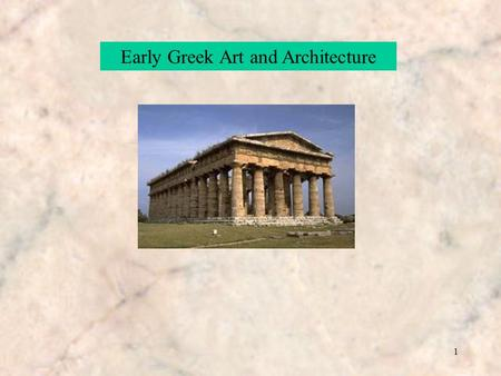 1 Early Greek Art and Architecture. 2 The Art of Greece The Periods The Cretan Period2000-1400 BC The Mycenaean Age1600-1100 BC Geometrical Period – The.