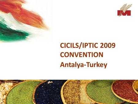 CICILS/IPTIC 2009 CONVENTION Antalya-Turkey. Introduction Mega Grain Trading Co. (P) Ltd. is an international brokerage company which was established.