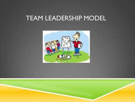 TEAM LEADERSHIP MODEL. WHO IS A TEAM LEADER? Leadership functions can be performed entirely by the formal team leader, or they can be shared with other.