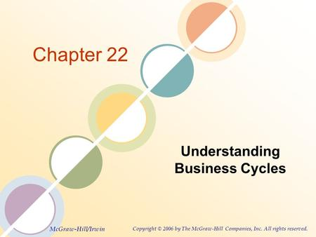 McGraw-Hill/Irwin Copyright © 2006 by The McGraw-Hill Companies, Inc. All rights reserved. Chapter 22 Understanding Business Cycles.