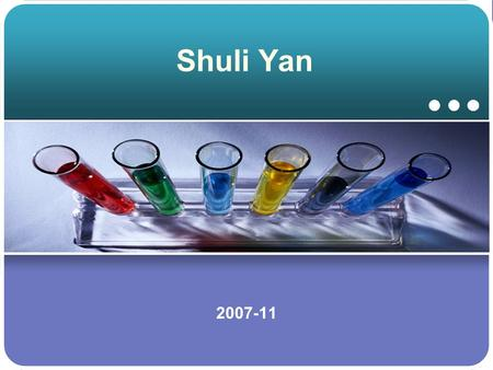 "Shuli Yan 2007-11.  Ph.D ----- ""An Investigation of Ca- and Zn-based Oxide Catalysts Used in the Transesterification of Oil with Methanol""  M.S. -----"