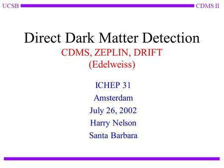 cdms dark matter - photo #35