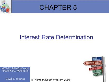 1 CHAPTER 5 Interest Rate Determination © Thomson/South-Western 2006.