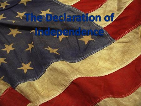 Lee Resolution presented the Continental Congress on June 7, 1776.