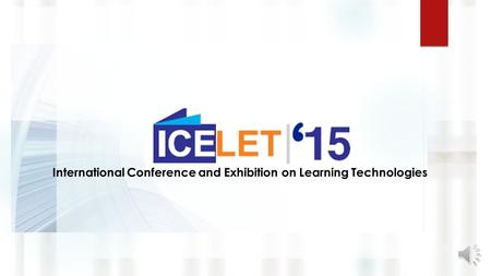 International Conference and Exhibition on Learning Technologies.