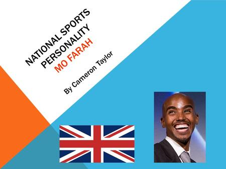 NATIONAL SPORTS PERSONALITY MO FARAH By Cameron Taylor.