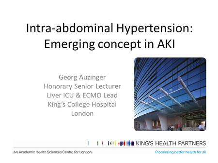 Intra-abdominal Hypertension: Emerging concept in AKI