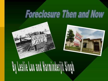 During the Great Depression of the 1930s, thousands of farmers faced foreclosure. In the early 1930s, prices of the corn dropped so low that many farmers.