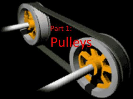 Part 1: Pulleys. What is a pulley? Pulleys may have been invented by Archimedes in ancient Sicily, about 250 BC.ArchimedesBC A pulley consists of a rope.