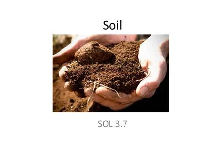 Soil SOL 3.7. Soil provides nutrients for plants: made of rock, humus, clay, silt, and sand Weathering break down of rocks: creates soil Topsoil upper.