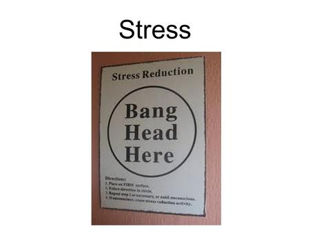 "Stress. The Biology of Stress ""Fight or Flight"" Our ancestors needed stress reactions to boost adrenaline levels in case of sudden threats."