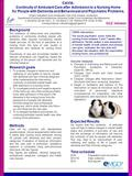 CAVIA: Continuity of Ambulant Care after Admission to a Nursing Home for People with Dementia and Behavioural and Psychiatric Problems. Elderly Outpatient.
