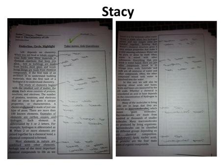 Stacy. DO NOW Answer the questions about macromolecules at the top <strong>of</strong> the <strong>class</strong> notes sheet you picked up.