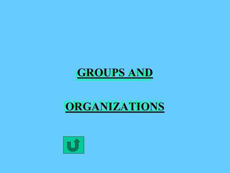 GROUPS AND ORGANIZATIONS CHARACTERISTICS OF GROUPS 1. DEFINITION OF SOCIAL GROUP: TWO OR MORE PEOPLE WHO INTERACT FREQUENTLY AND SHARE A COMMON IDENTITY.