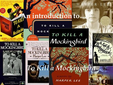 An introduction to… To Kill a Mockingbird Introduction to the Novel A Novel STUDY –Character Information Review –Language & Dialect –Time Period –Notetaking.