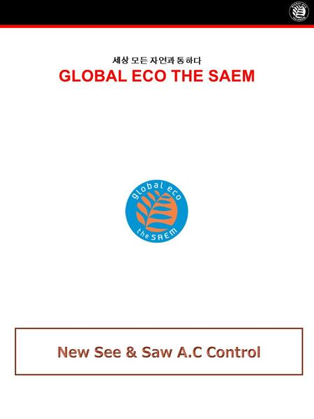 세상 모든 자연과 통하다 GLOBAL ECO THE SAEM. Profile of See & Saw A.C Control See & Saw A.C Control Deep Cleansing Foam ProductPriceVolume Cleansing Foam9,000120ml.