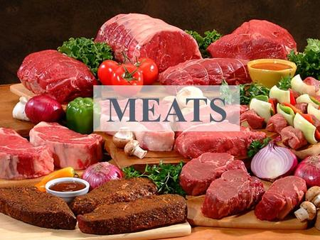 MEATS. O BJECTIVES Identify the differences between beef, pork, and lamb cuts; Diagram and identify the wholesale cuts of beef, pork, and lamb; List retail.