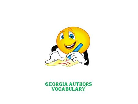 Georgia Authors Vocabulary. prior knowledge Definition Preexisting attitudes, experiences, and knowledge on a topic or event. Example Dogs love treats.