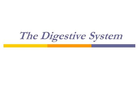The Digestive System. Nutrition  Nutrition-study of how food affects the function of living organisms.  If cells don't get nutrients, they don't function.