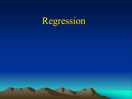Regression. Types of Linear Regression Model Ordinary Least Square Model (OLS) –Minimize the residuals about the regression linear –Most commonly used.