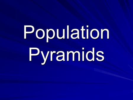 Population Pyramids. Go through the following slides and answer the questions… raise your hand if you need help!! Never be afraid to ask questions. These.