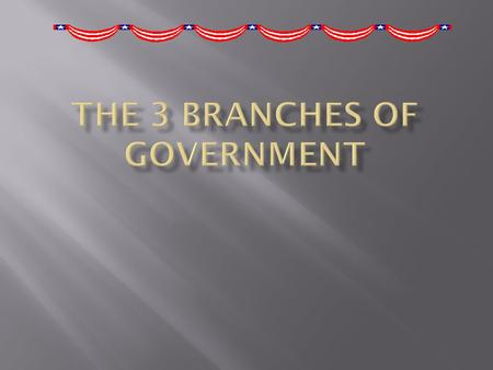  We make sure the laws are obeyed by all citizens.  The name of the people are the president and the vise president.